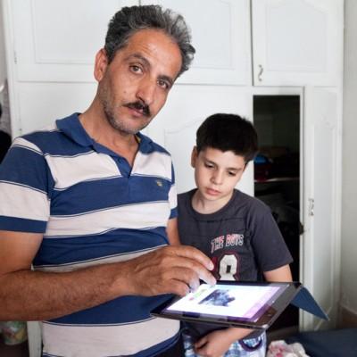 Zur Kommunikation innerhalb der Familie werden Internet Messenger benutzt. Fotos, Texte und Sprachnachrichten  werden über Viber verschickt.