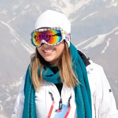 Eine iranische Skifahrerin auf der Piste in Shemshak, einem Dorf in der nähe von Tehran.