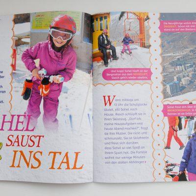 Bei der Februar-Ausgabe 2017 von Geomini wurde die Fotoserie über Sahel - die kleine Skifahrerin aus Shemshak - veröffentlicht.