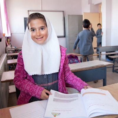 Sahel im Klassenzimmer in Shemshak.