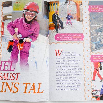 Bei der Februar-Ausgabe 2017 von Geomini wurde meine Fotoserie über Sahel - die kleine Skifahrerin aus Shemshak - veröffentlicht.