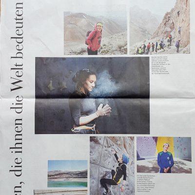 Bei der neuen Februar-Ausgabe 2017 der Zeit wurde die Geschichte von iranischen Kletterinnen, die die Journalistin Agnes und ich im Iran begleitet haben, veröffentlicht.